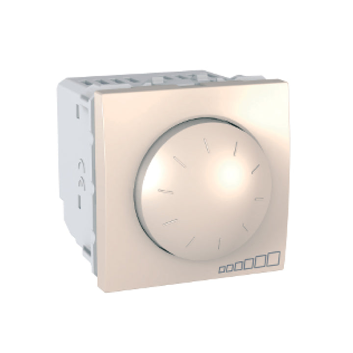 Schneider Electric 'Unica' 230 VAC 40 to 400 W/VA Rotary Dimmer in Ivory