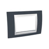 Schneider Electric 'Unica Plus' Cover Plate 3 Modules in Slate Grey White