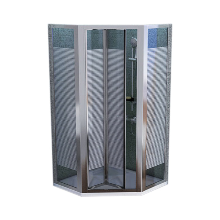 Shower enclosure - Pentagon shower tray folding enclosure
