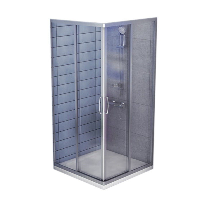 Shower enclosure - Tipica - Square shower tray - Corner entry