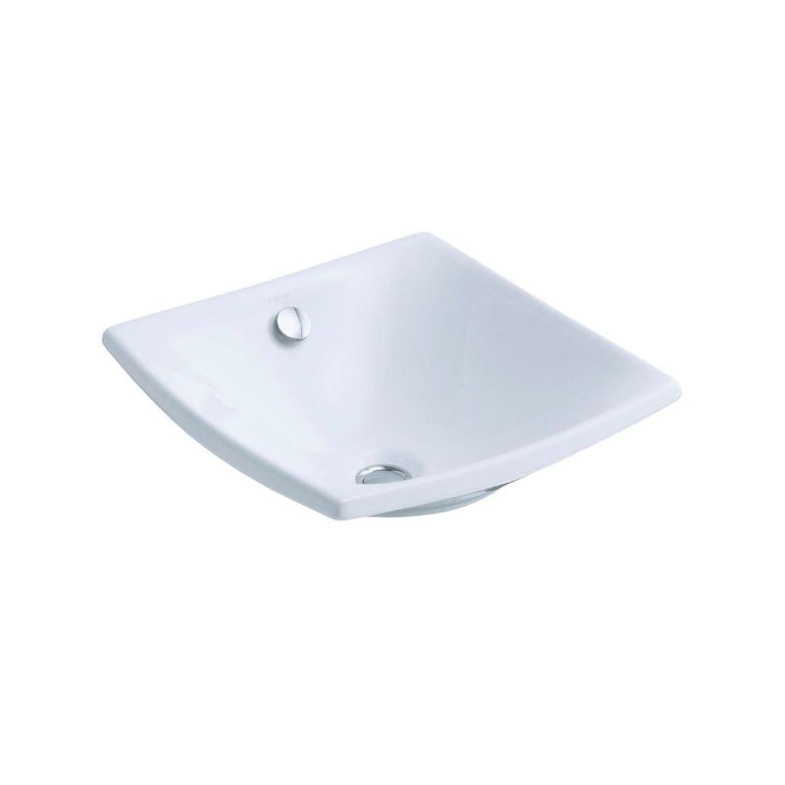 Sink - Escale - Square Vessel - With overflow - White