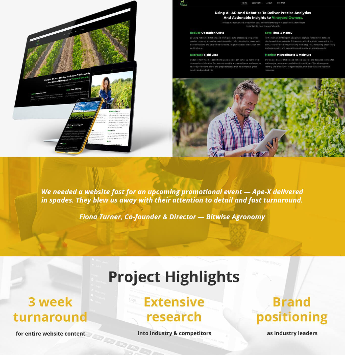 Bitwise Agronomy - Content Writing Services Case Study, Ape-X