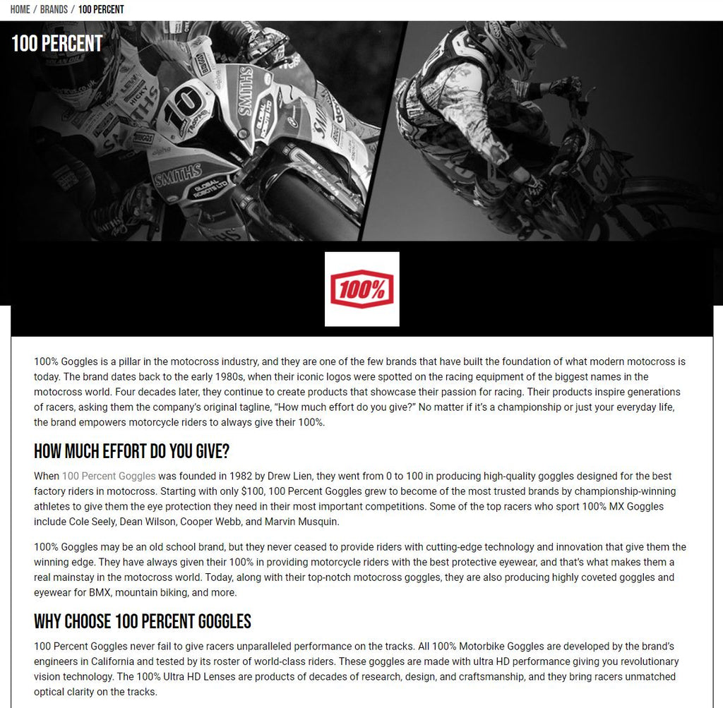 AMX Superstores - example content page