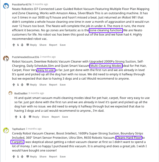 discussion about robot vacuums on Reddit