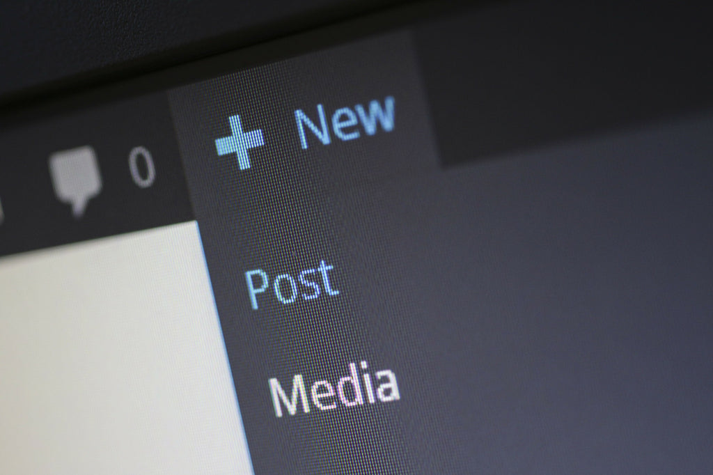 new post button on the wordpress cms