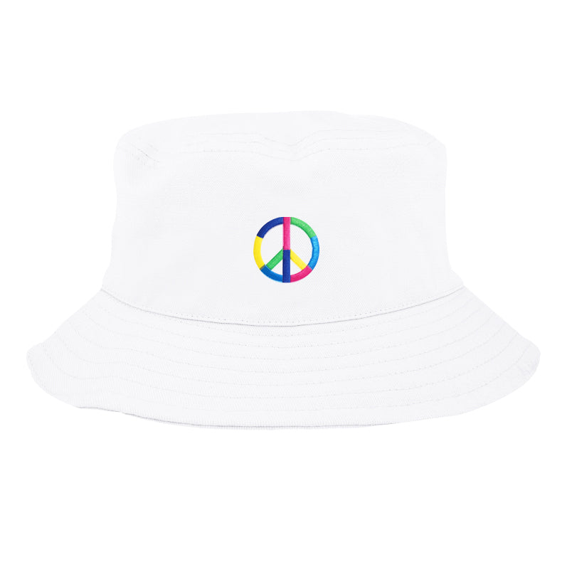 PEACE & LOVE BUCKET HAT