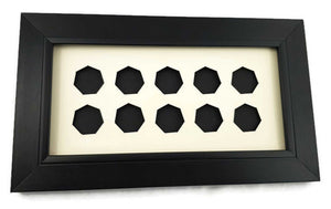 Coin Display Frame for 10 x 50 pence Coins