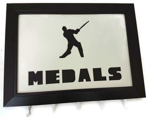 Medal Hanger with Cricketer Image