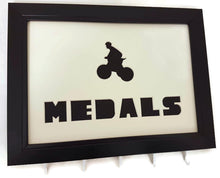Load image into Gallery viewer, Medal Hanger for Cycling Medals with Bicycle Cut out