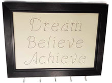 Load image into Gallery viewer, Medal Hanger frame with stylish writing. Dream Believe Achieve