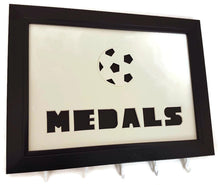 Load image into Gallery viewer, Medal Hanger Frame for Football Medals with Football Image