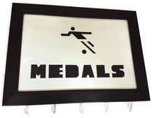 Load image into Gallery viewer, Medal Hanger Frame for Footballer Medals with Football Image