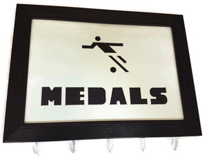 Medal Hanger Frame for Footballer Medals with Football Image