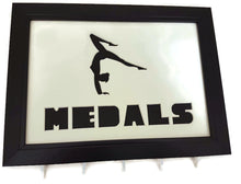 Load image into Gallery viewer, Medal Hanger Frame with Gymnastics image