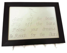 Load image into Gallery viewer, Medal Hanger Frame with Gymnastics calligraphy style writing and image