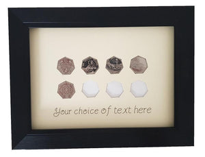 Personalised Coin Display Frame for United Kingdom 50 Pence pieces