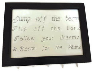 Medal Hanger Frame with Gymnastics calligraphy style writing