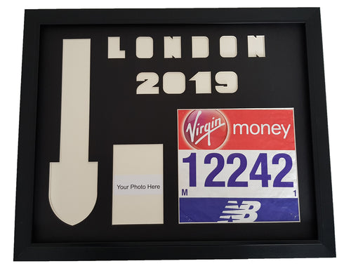 London Marathon 2019 Medal Number & Photo Display Frame