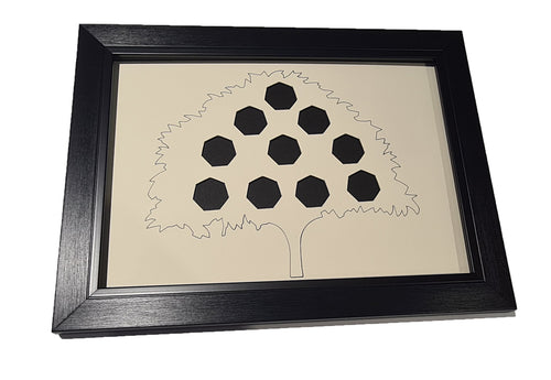 Money Tree 50 Pence Coin Display Frame