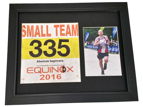 Race Number & Photo Presentation Frame