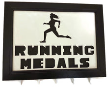 Load image into Gallery viewer, Medal Hanger Frame Female Runner Image