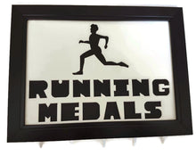 Load image into Gallery viewer, Medal Hanger Frame Male Runner Image