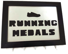 Load image into Gallery viewer, Medal Hanger Frame for Running Medals with shoe image