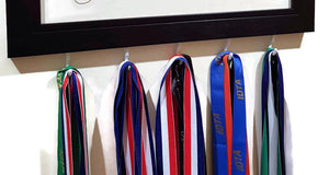 Bottom of Medal Hanger Frames showing where medals go