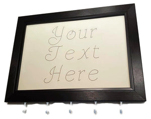 Medal Hanger frame showing Your Text Here in calligraphy style writing