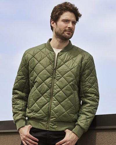 Quilted Men's Bomber Jacket