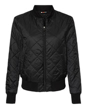 Load image into Gallery viewer, Adorable Quilted Women's Bomber Jacket