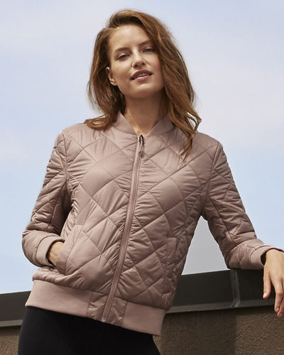 Adorable Quilted Women's Bomber Jacket