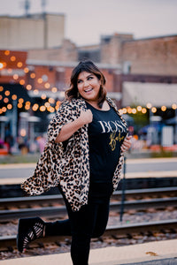 Black and Gold Boss Babe Slouchy Tee