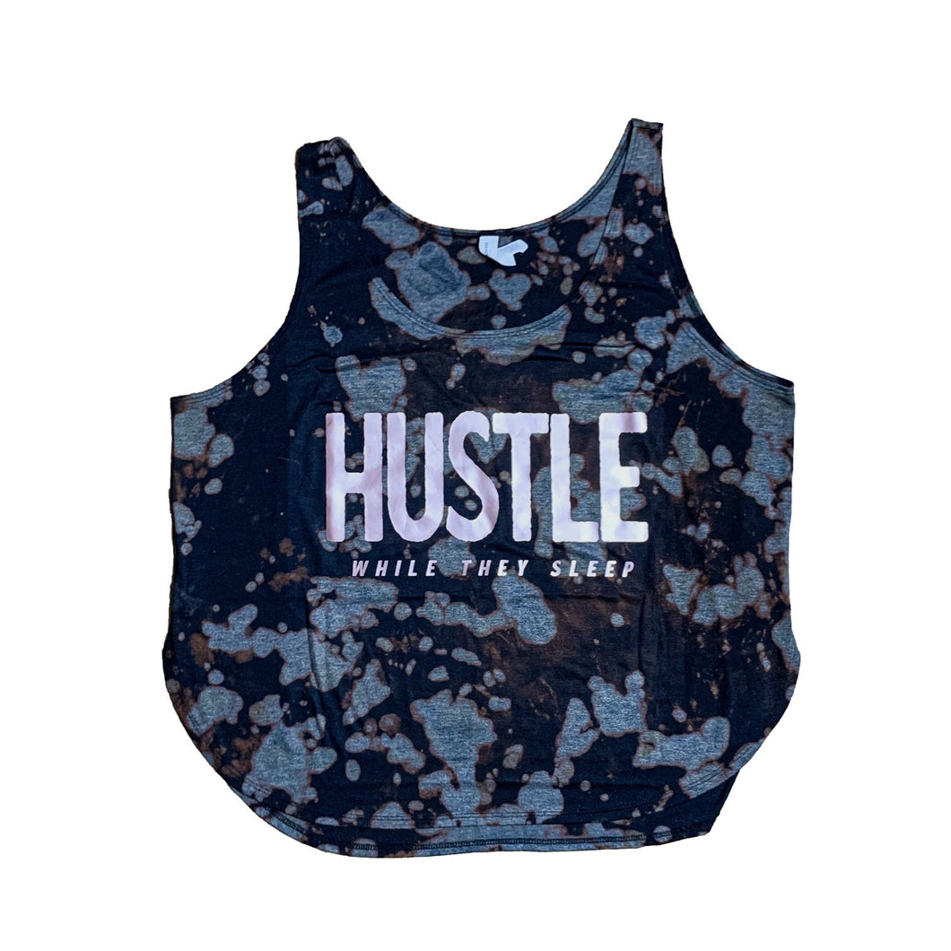 *RTS* Tie Dye Hustle While They Sleep Side Slit Tank - Size XL