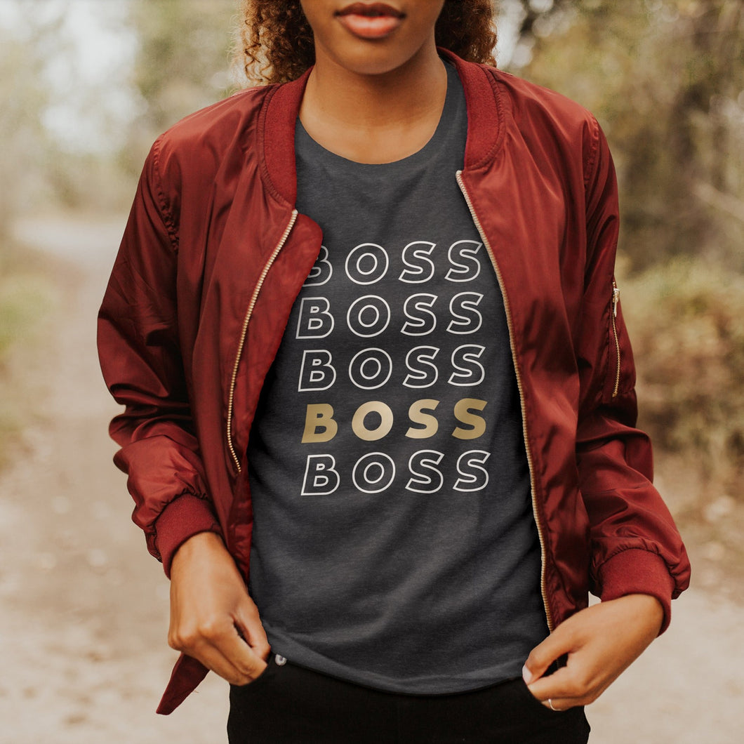 Boss Babe on Repeat Tee (sans)