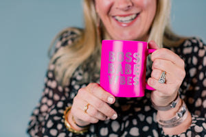 Hot Pink Boss Babe Vibes Coffee Mug