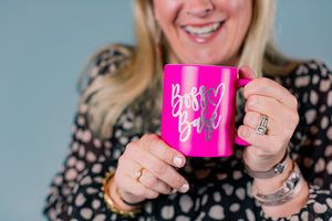 Hot Pink Boss Babe Coffee Mug