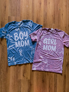 Tie-Dye Girl Mom Tee