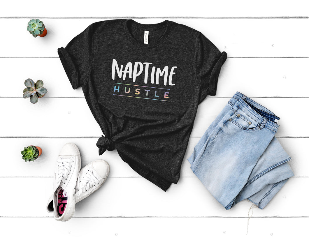 Naptime Hustle Black Triblend Tee