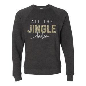 All The Jingle Ladies Black Raglan Sweatshirt