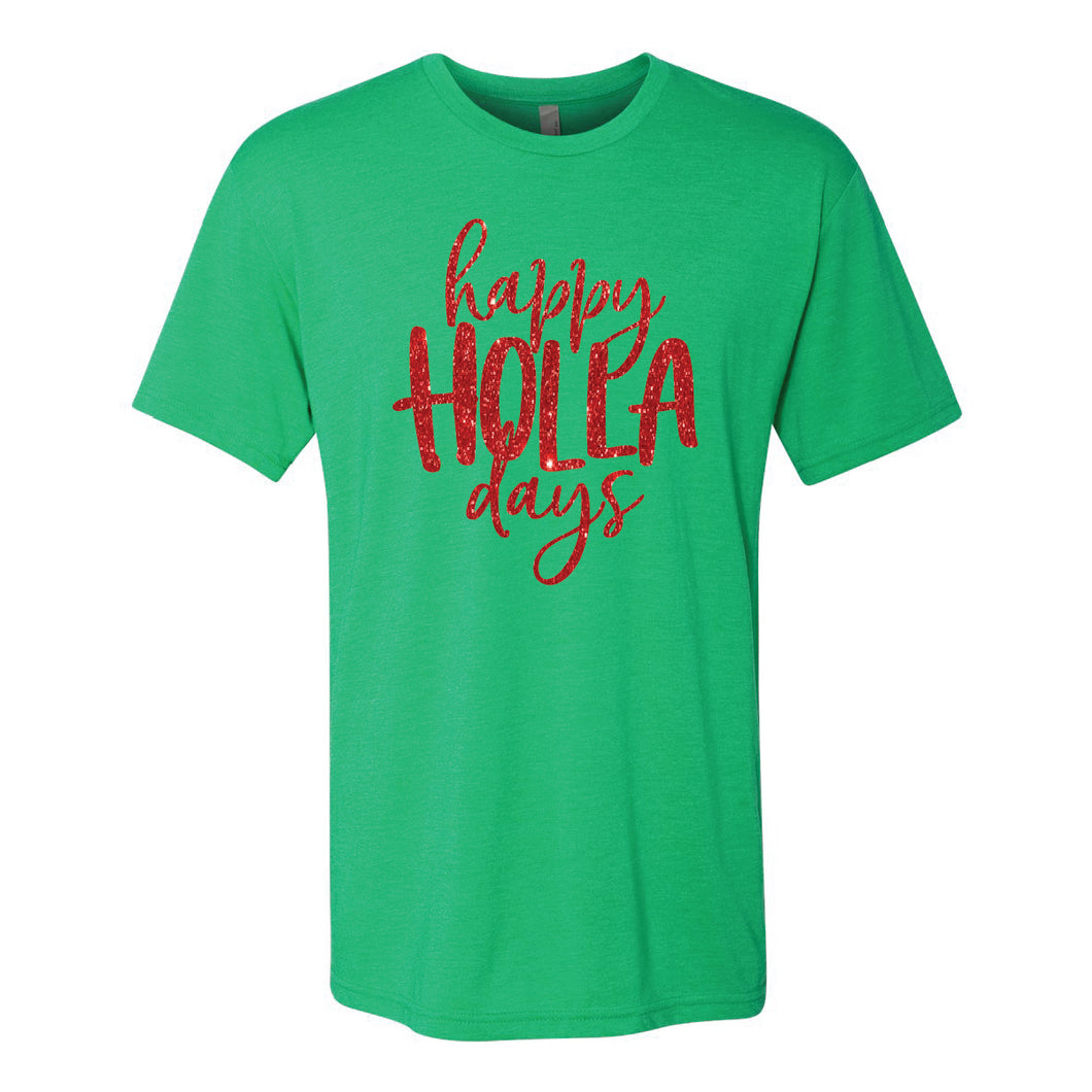 Happy Holla Days Green Short Sleeve Jersey Tee