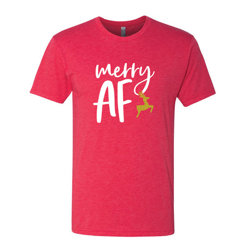 Merry AF Red Short Sleeve Jersey Tee