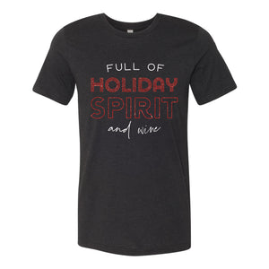 Holiday Spirit Black Short Sleeve Jersey Tee