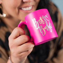 Load image into Gallery viewer, Hot Pink Boss Babe Coffee Mug