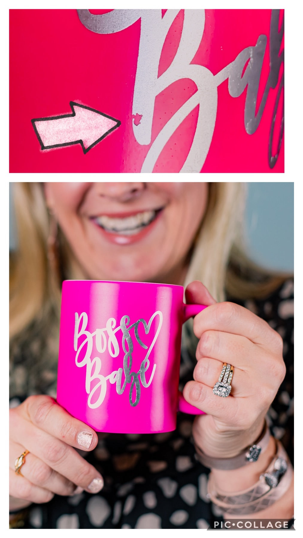IMPERFECT CLEARANCE - Hot Pink Boss Babe Mug