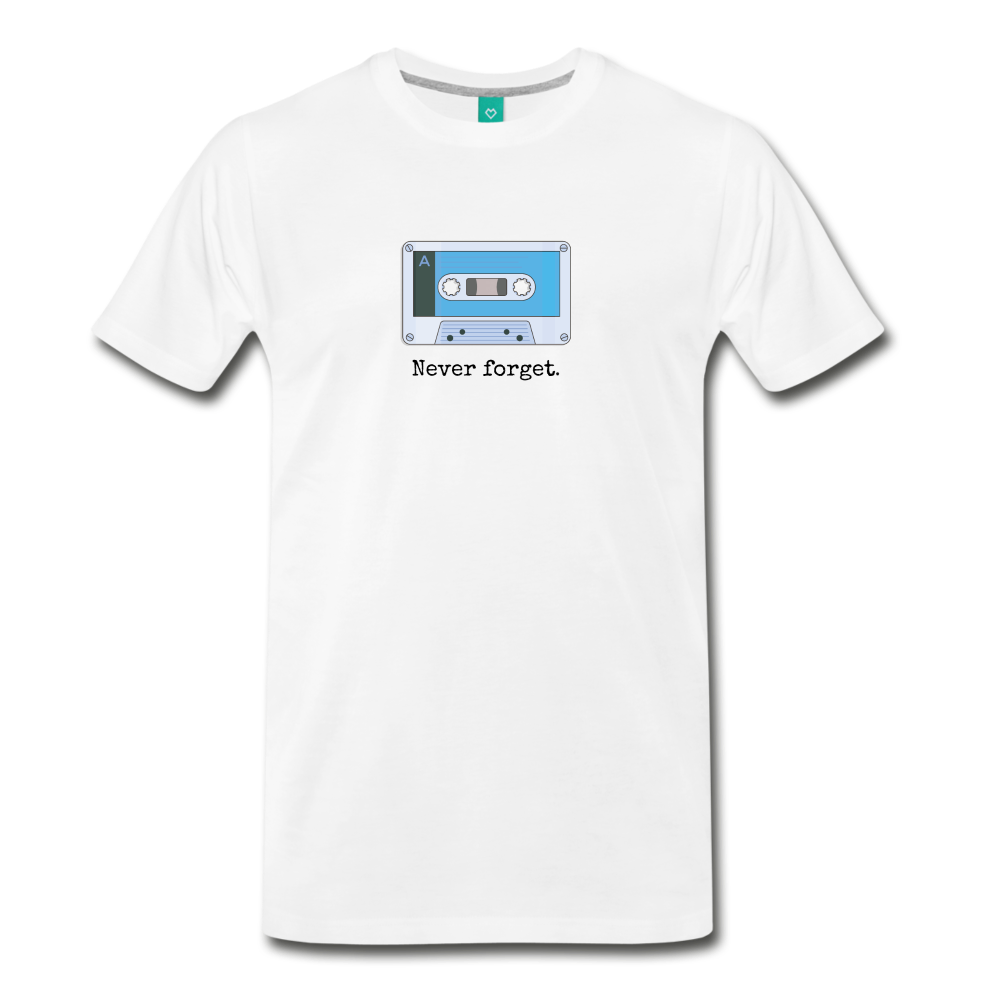 Forget tape on a premium unisex T-shirt - white