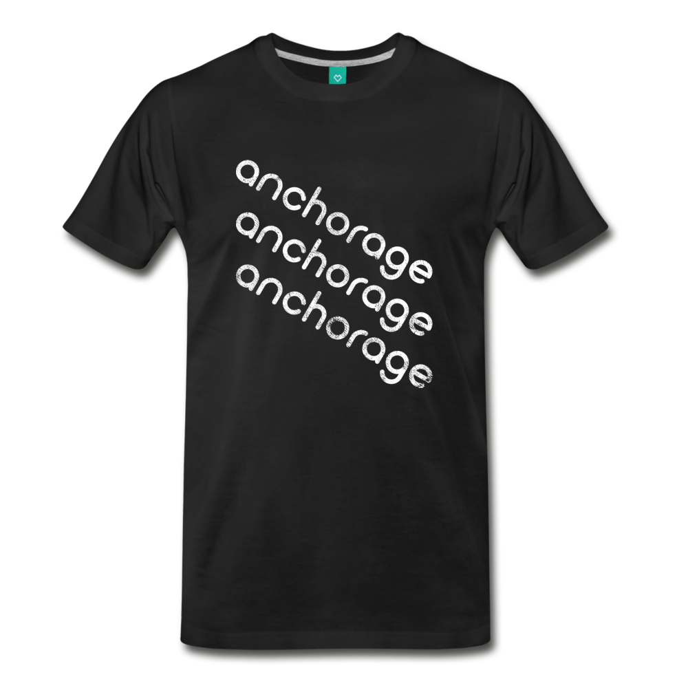 on a premium unisex T-shirt - black