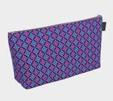 Diamondflower cosmetics/accessories bags: Vintage Flower Pattern In blue & purple