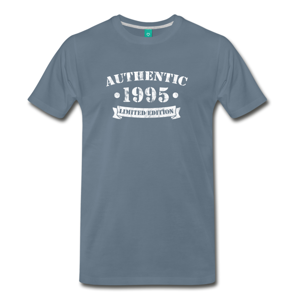 on a premium unisex T-shirt - steel blue