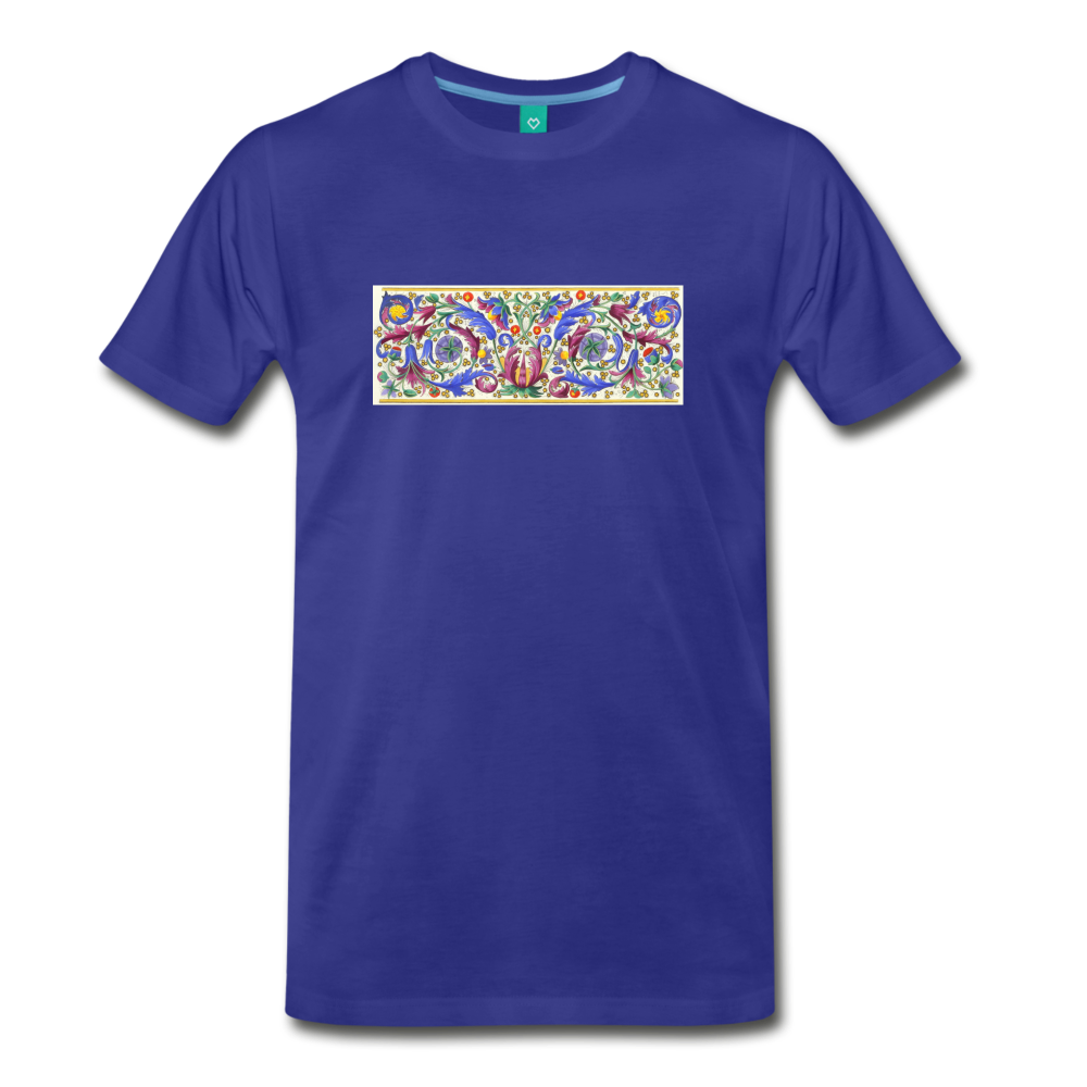 Ancient illuminated art - on a premium unisex T-shirt - royal blue